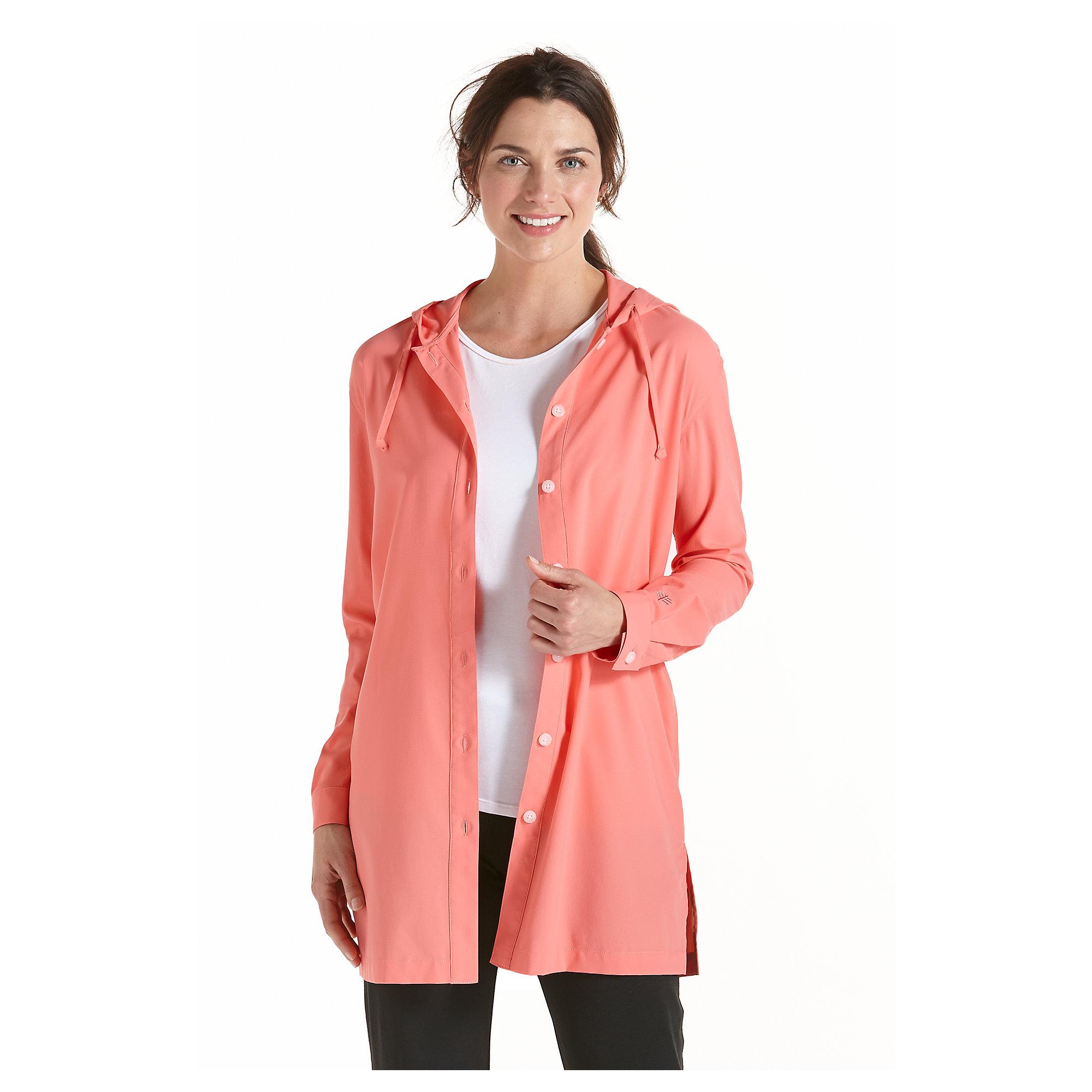 Coolibar upf 50 womens beach shirt sun protection for Custom sun protection shirts