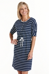 ZnO Beach Henley Dress - Stripe
