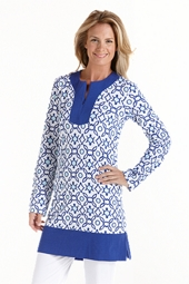 ZnO Color Block Tunic - Print