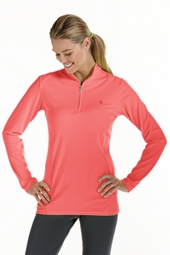 Quarter Zip Long Sleeve Fitness Pullover