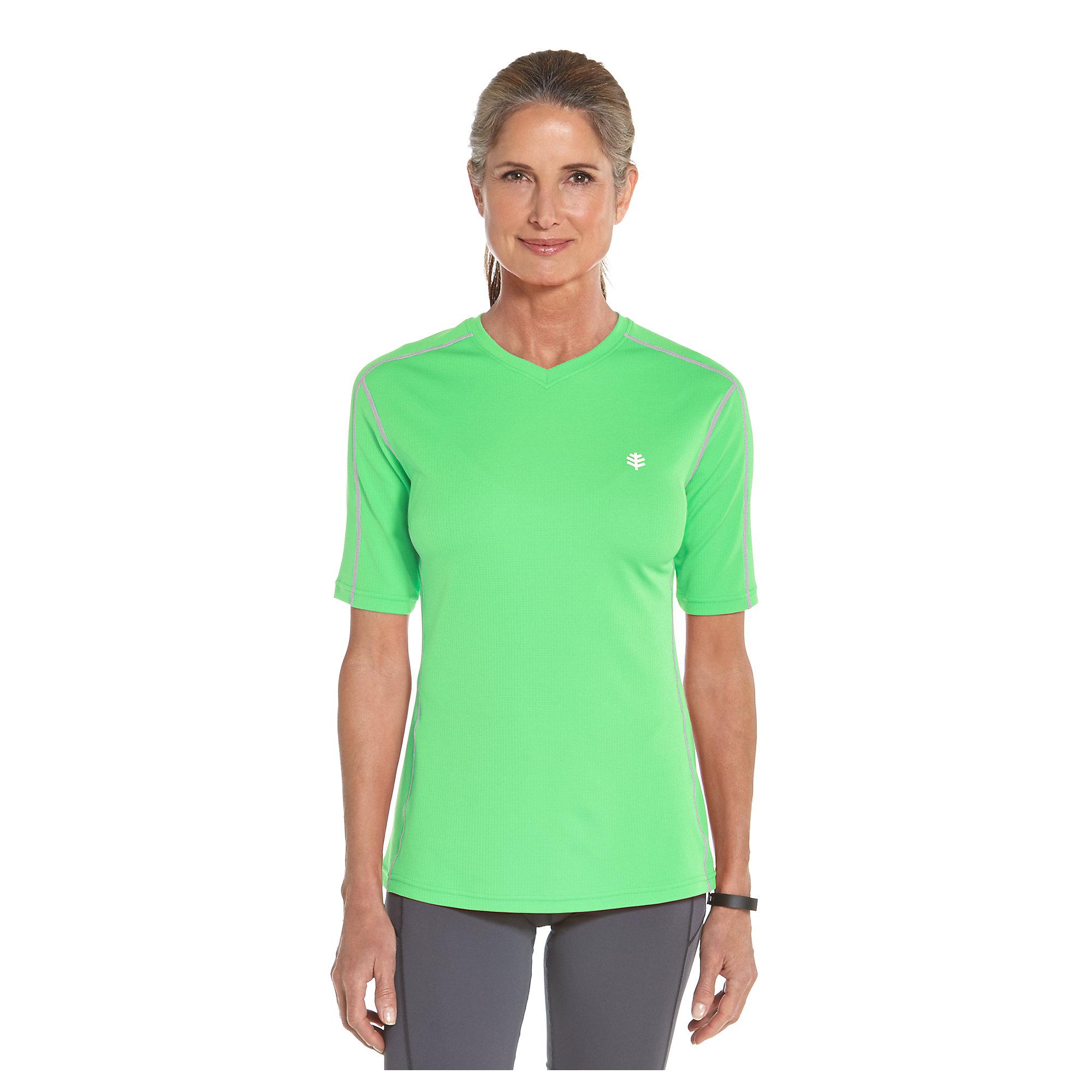 Coolibar upf 50 women 39 s short sleeve cool fitness shirt for Women s sunscreen shirts