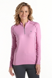 Long Sleeve Cool Quarter Zip Fitness Pullover