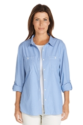 Light Chambray Shirt - Plus Size