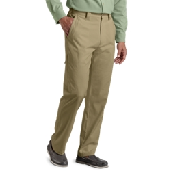 Coolibar Mens Travel Pants in Washed Tan or Light Stone