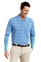 On Course Convertible Sleeve Polo - Stripe