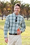 Men's Plaid Sun Shirt