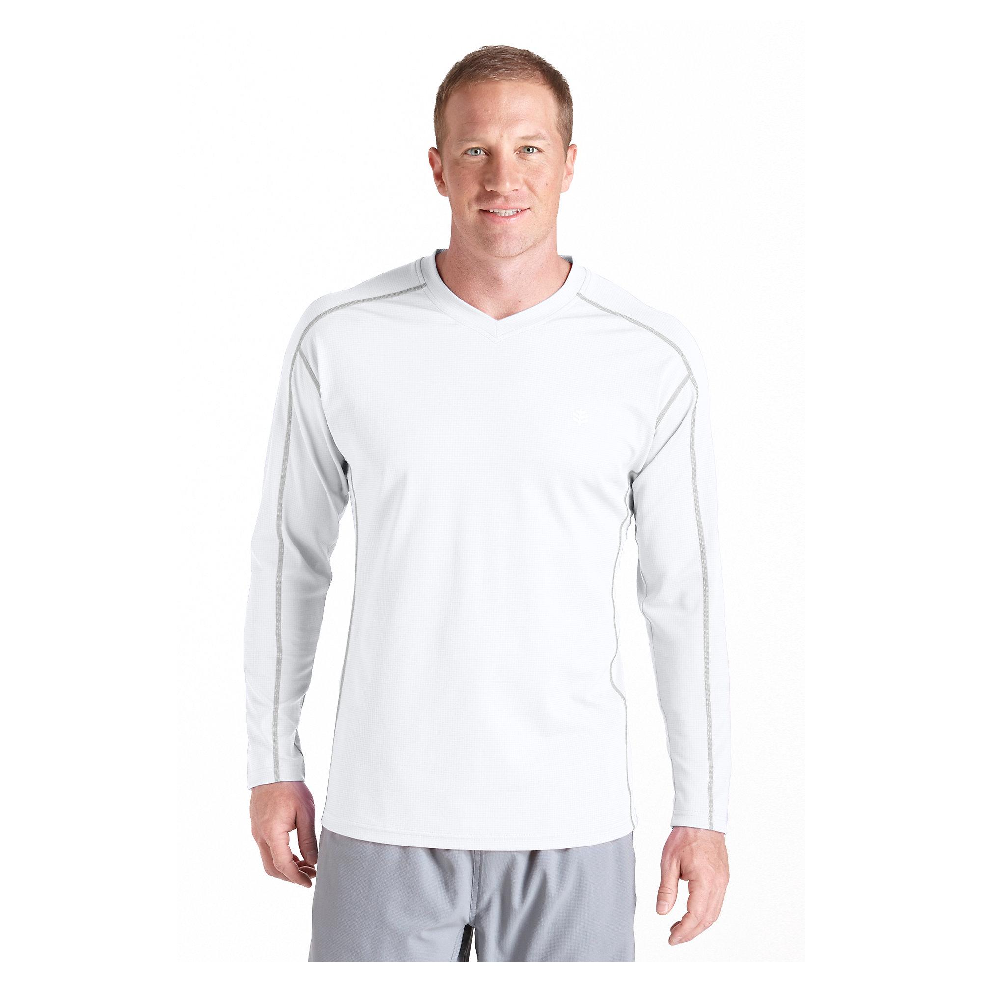 coolibar upf 50 mens long sleeve cool fitness shirt sun