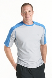 Short Sleeve Cool Fitness Crewneck Shirt