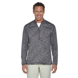 Coolibar Mens Merino Wool Half-Zip Top in Grey Space Dye or Blue Space Dye