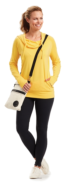 Cowl Neck and Yoga Leggings Outfit at Coolibar