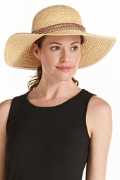 Raffia Beaded Beach Hat