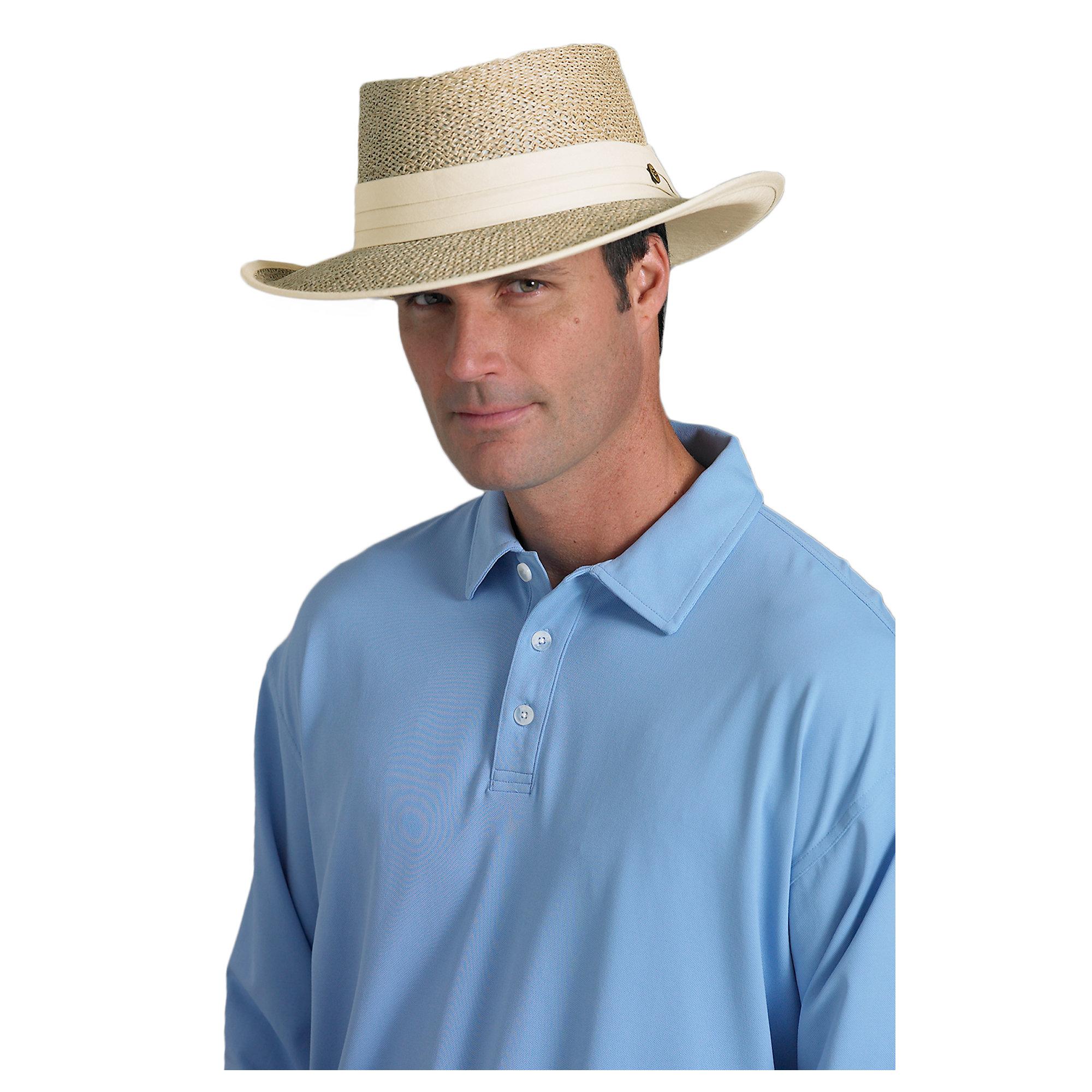 Coolibar upf 50 men 39 s golf sun protection hat ebay for Sun protection golf shirts