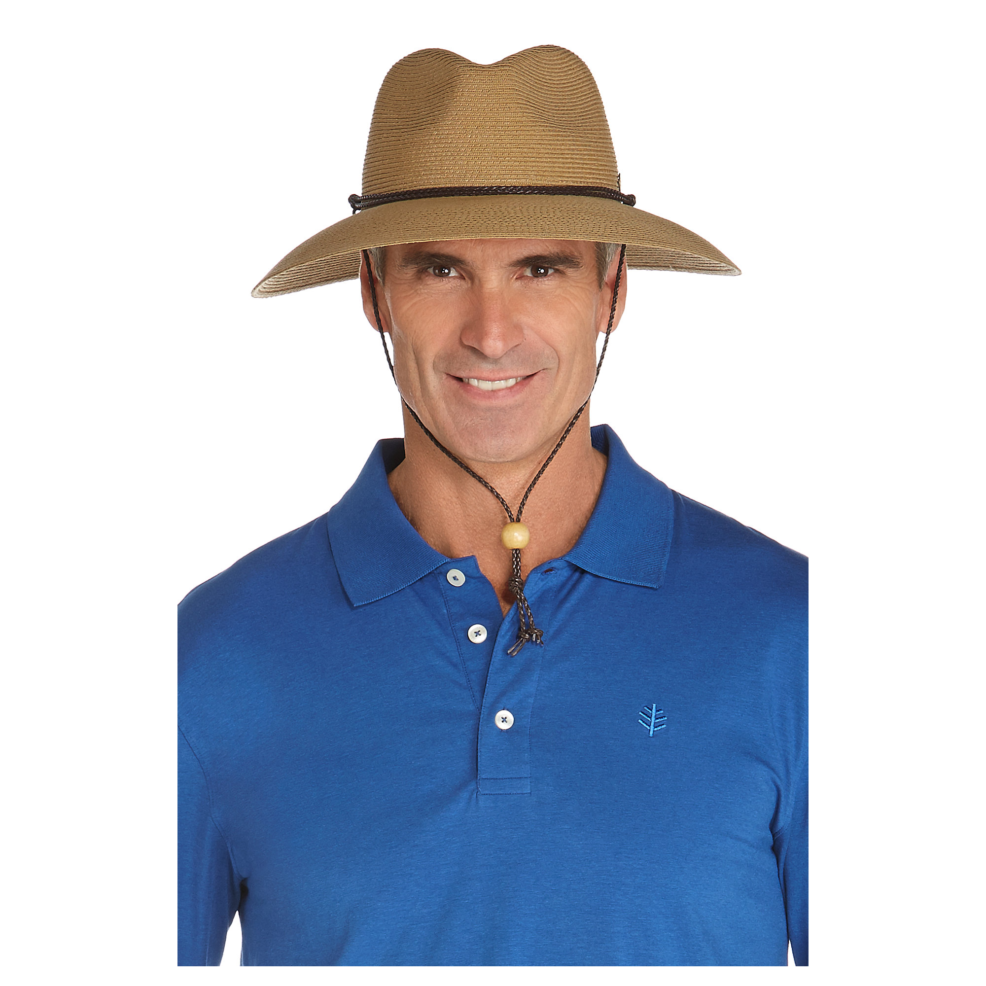 c050d31f43e62 Coolibar UPF 50+ Men s SmartStraw Surfside Hat