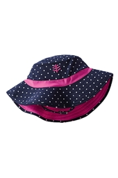 Baby Beach Bucket Hat - Navy Polka Dot