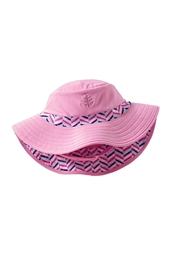 Infant Beach Bucket Hat - Bubblegum ZigZag