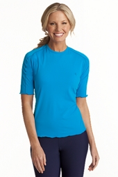 Short-Sleeve Paddle Swim Shirt
