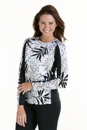 Long Sleeve Paddle Swim Shirt - Print