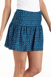 Ruche Swim Skirt - Print