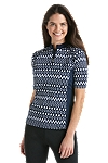Quarter Zip Short Sleeve Swim Shirt - Print