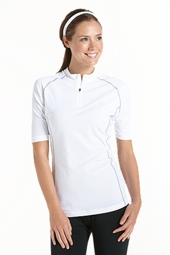 Quarter Zip Short Sleeve Swim Shirt