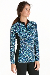 Quarter Zip Long Sleeve Swim Shirt