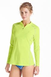 Long Sleeve Quarter-Zip Swim Shirt