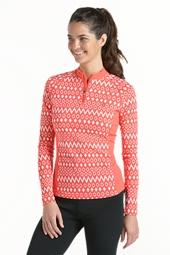 Quarter Zip Long Sleeve Swim Shirt
