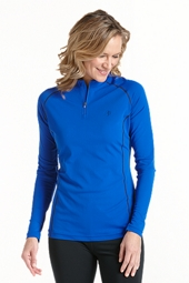 Quarter Zip Long Sleeve Swim Shirt - Plus