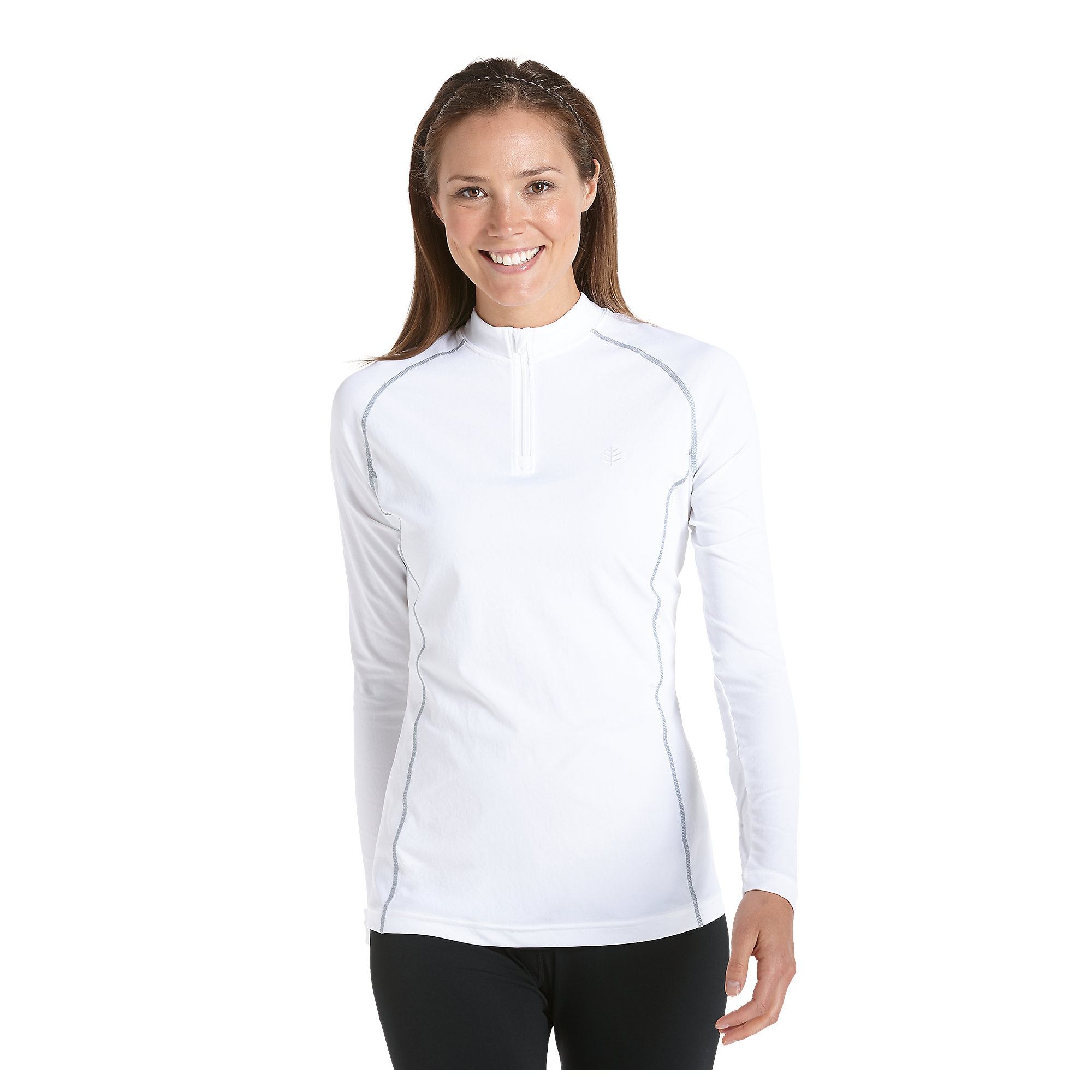 coolibar upf 50 women 39 s quarter zip long sleeve swim shirt