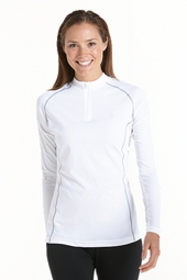 Long Sleeve Quarter-Zip Swim Shirt