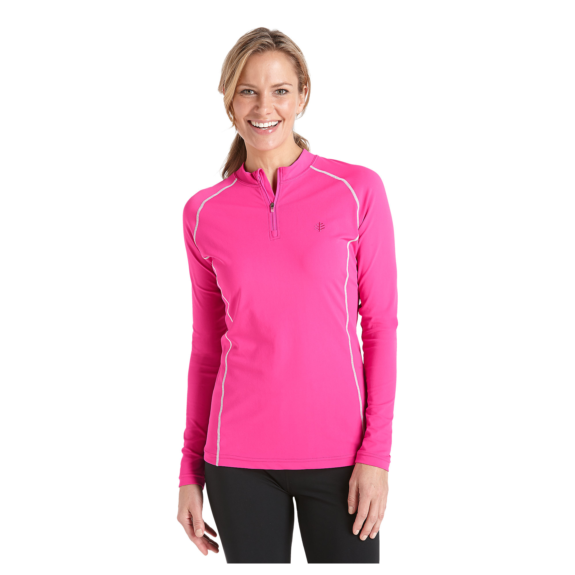 coolibar upf 50 women 39 s quarter zip long sleeve swim
