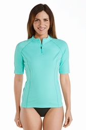 Short Sleeve Rash Guard - Plus Size