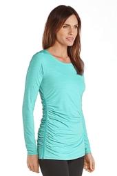 Side-Zip Swim Shirt - Plus Size