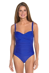 Ruche Bandeau Swimsuit