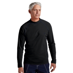 Coolibar Mens Long Sleeve Swim Shirt in Black
