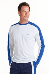 Long Sleeve Crew Neck Swim Shirt