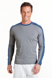 Long-sleeve Crewneck Swim Shirt