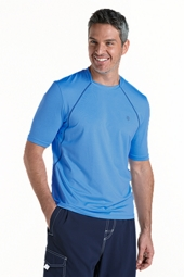 Short Sleeve Aqua T-Shirt