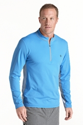 Quarter Zip Aqua Shirt