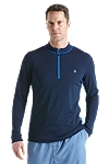 Long Sleeve Quarter-Zip Aqua Shirt