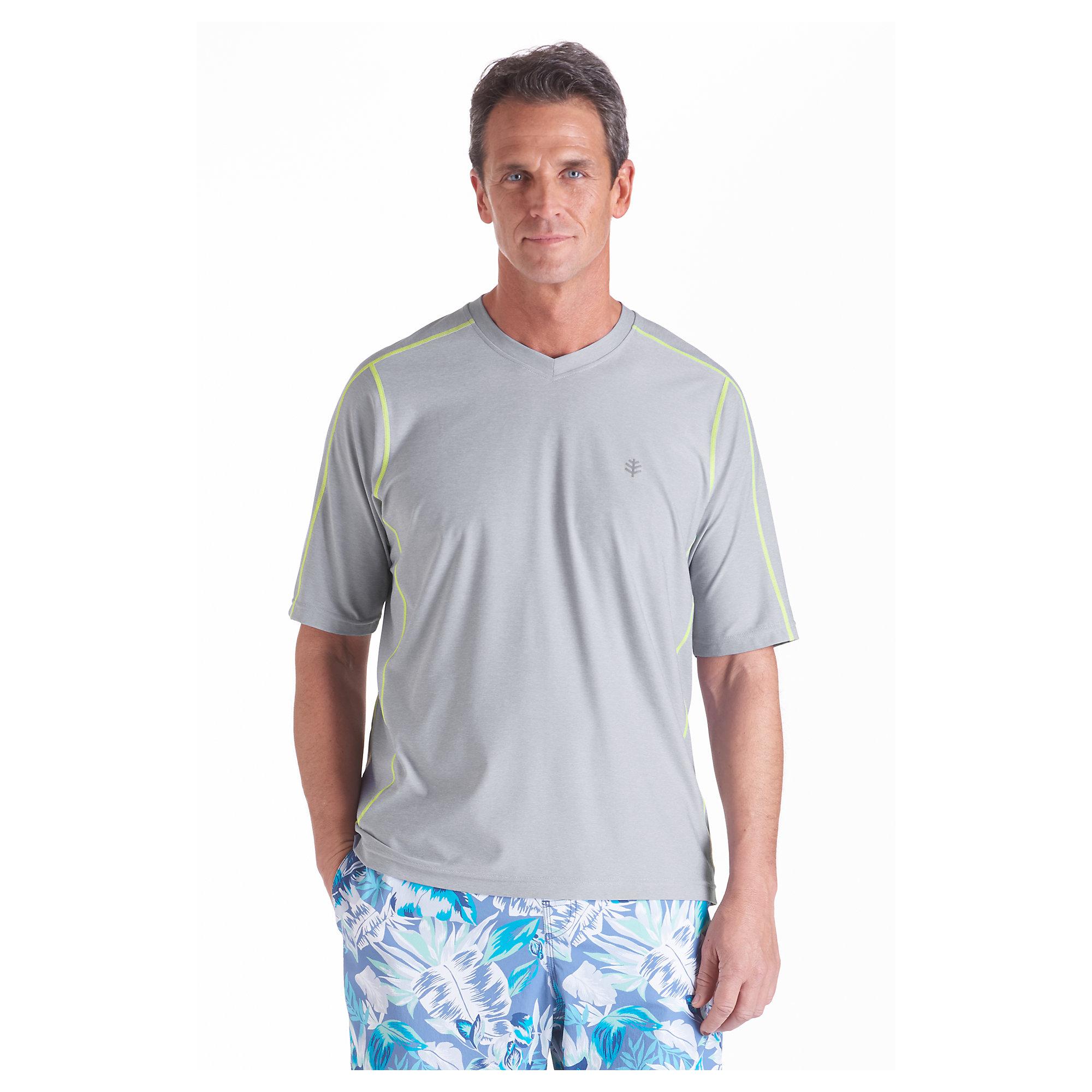 coolibar upf 50 mens short sleeve aqua t shirt uv swimwear
