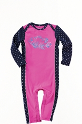 Girl's Infant Swim Romper - Pretty Pink