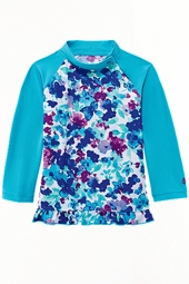 Baby Girls Ruffle Swim Shirt