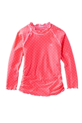 Girl's Long-sleeve Ruche Swim Shirt - Print