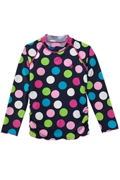 Girl's Long-sleeve Ruche Swim Shirt