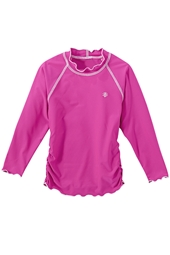 Long-sleeve Ruche Swim Shirt