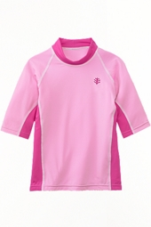 Toddler Girl's Short-sleeve Rash Guard