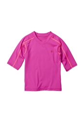Girl's Short-Sleeve Rash Guard Swim Tee