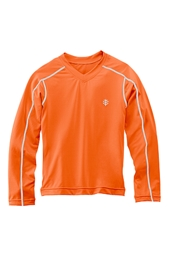 Boy's Long-Sleeve Rash Guard Swim Tee