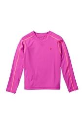 Toddler Girl's Long-Sleeve Rash Guard Swim Tee